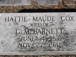 Mrs Hattie Maud(e) <i>Cox</i> Barnett