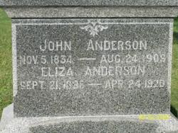 Eliza <i>Anderson</i> Anderson