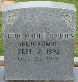 Mrs Addie Maude Maude <i>Harden</i> Abercrombie