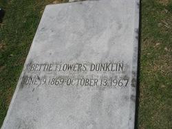 Bettie <i>Flowers</i> Dunklin