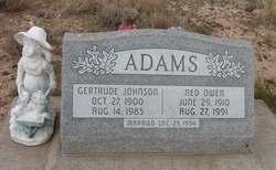 Gertrude <i>Johnson</i> Adams