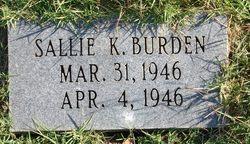 Sallie K Burden