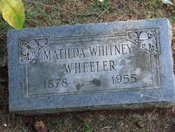 Matilda <i>Whitney</i> Wheeler