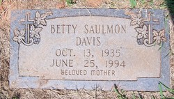Betty Jean <i>Orders</i> Saulmon</i> Davis