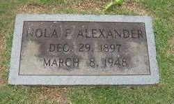 Nola E <i>Thrasher</i> Alexander
