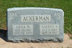 Edna M <i>Griffin</i> Ackerman