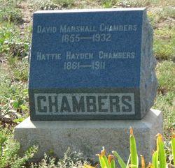 Harriet Sylvia Hattie <i>Hayden</i> Chambers