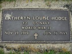 Katheryn Louise <i>B</i> Hodge