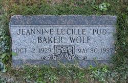 Jeannine Lucille Pud <i>Baker</i> Wolf