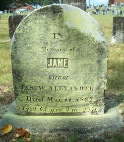 Jane <i>Johnston</i> Alexander