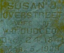 Susan J. <i>Overstreet</i> Dudgeon