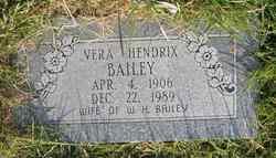 Vera <i>Hendrix</i> Bailey