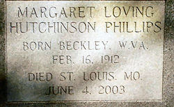Margaret Loving <i>Hutchinson</i> Phillips