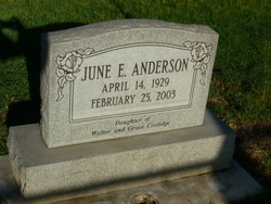 June E <i>Coolidge</i> Anderson