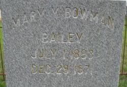 Mary <i>Yancey</i> Bailey