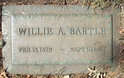 Willie Ann <i>Westfall</i> Bartle
