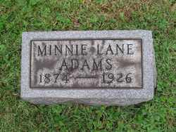 Minnie B. <i>Lane</i> Adams