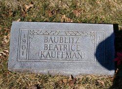 Beatrice R <i>Kauffman</i> Baublitz