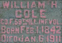 Sgt William H. Cole