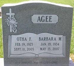 Barbara Maxine <i>Anderson</i> Agee