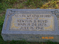 Susan <i>Weatherford</i> Boyd