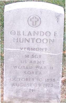 MSGT Orlando E Huntoon