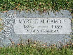 Myrtle M <i>Pulsipher</i> Gamble