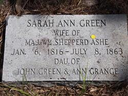 Sarah Ann <i>Green</i> Ashe