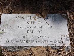 Ann Eliza <i>Ashe</i> Miller