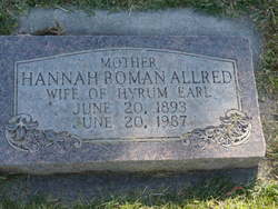 Hannah <i>Boman</i> Allred