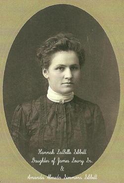 Hannah LaBelle <i>Sibbett</i> Rose