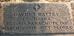 Sgt David Troy Battey