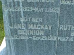 Jane <i>Mackay</i> Bennion