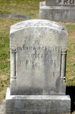 Cynthia J <i>Abbott</i> Ackley