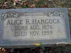 Alice R Hancock