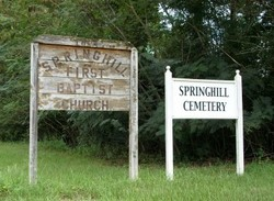 Springhill First Baptist Church and Cemetery