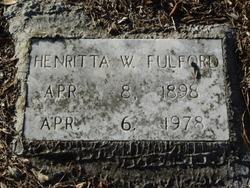 Henritta <i>W.</i> Fulford