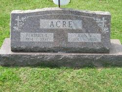 Beatrice E Acre