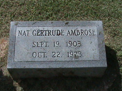 Nat Gertrude <i>Norman</i> Ambrose