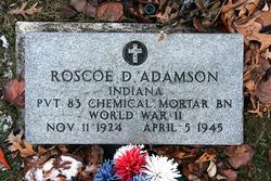 Pvt Roscoe D. Adamson