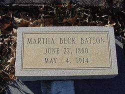 Martha <i>Beck</i> Batson