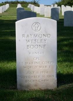 Raymond Wesley Boone