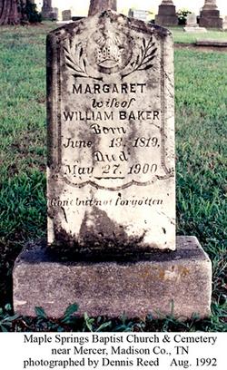 Margaret <i>Wilkins</i> Baker
