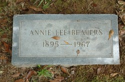Annie Lee <i>Castleberry</i> Beavers