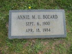 Annie M. U. Bozard