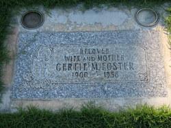 Gertie M <i>Battenfield</i> Foster