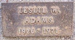 Leslie W Adams