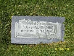 Florence M <i>Taylor</i> Cain
