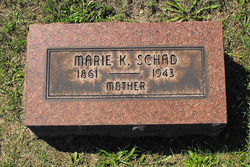 Marie Katherine <i>Manewal</i> Schad