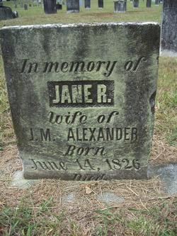 Jane R. <i>Martin</i> Alexander